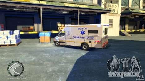 Mercedes-Benz Sprinter Ambulance für GTA 4 hinten links Ansicht