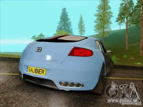 Bugatti Galibier 16c für GTA San Andreas Rückansicht