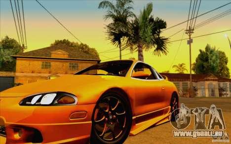 Mitsubishi Eclipse GSX Mk.II 1999 für GTA San Andreas Rückansicht