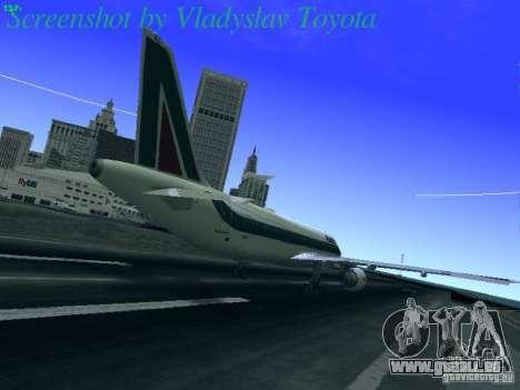 Airbus A320-214 Alitalia v.1.0 pour GTA San Andreas vue de droite