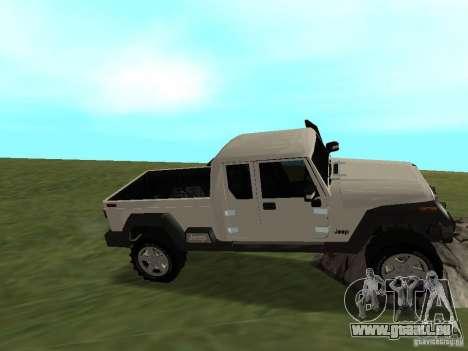 Jeep Gladiator pour GTA San Andreas vue intérieure