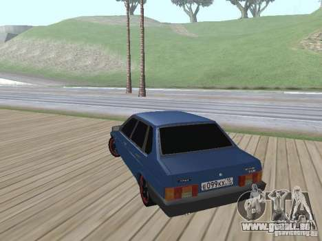 VAZ 21099 v2 pour GTA San Andreas laissé vue