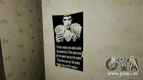 Nouvelles affiches dans le deuxième appartement pour GTA 4 quatrième écran