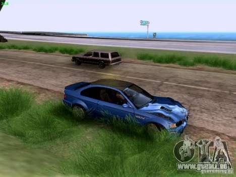 BMW M3 Tunable pour GTA San Andreas vue intérieure