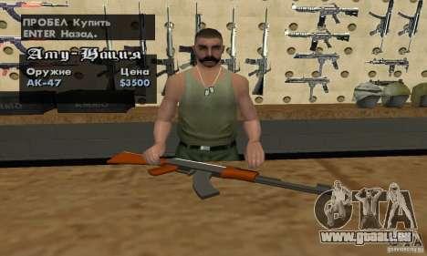 Le nouveau AK-47 pour GTA San Andreas