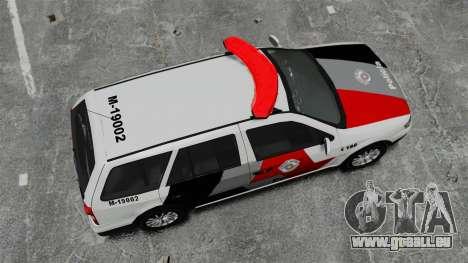 Volkswagen Parati G4 PMESP ELS pour GTA 4 est un droit