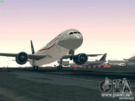 Boeing 787-8 Dreamliner AeroMexico für GTA San Andreas Innen