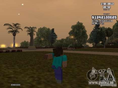 Steve pour GTA San Andreas troisième écran