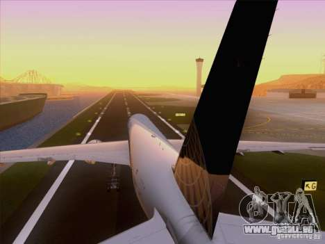 Boeing 777-200 United Airlines für GTA San Andreas Seitenansicht