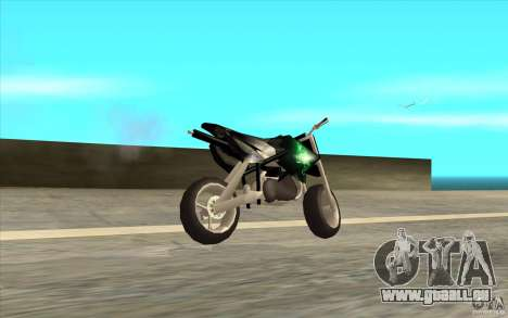 Black Rockstar Moto Cross für GTA San Andreas linke Ansicht