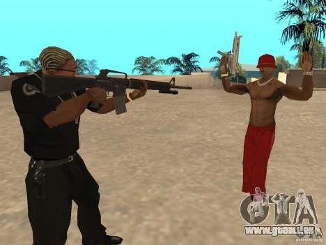 M4A1 from Left 4 Dead 2 pour GTA San Andreas deuxième écran