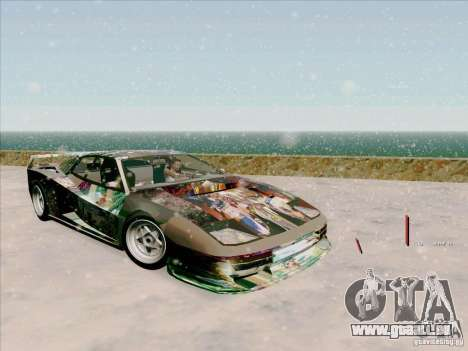 Ferrari Testarossa Custom pour GTA San Andreas vue intérieure