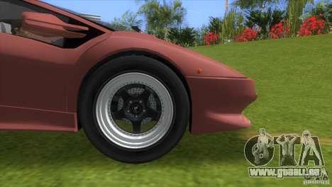 Lamborghini Diablo VTTT Black Revel pour une vue GTA Vice City de la droite