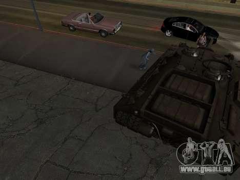 PT-SAU T95 pour GTA San Andreas vue de côté