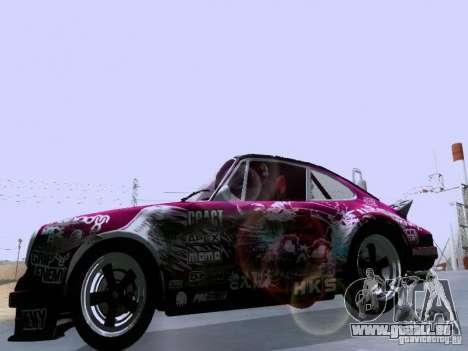Porsche 911 Pink Power pour GTA San Andreas vue intérieure