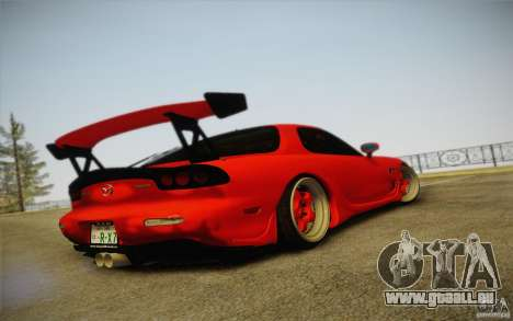 Mazda RX7 Hellalush V.2 pour GTA San Andreas laissé vue