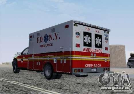 Dodge Ram Ambulance pour GTA San Andreas vue de dessus