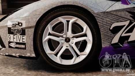 Lamborghini Aventador LP700-4 2012 Galag Gumball pour GTA 4 est une vue de l'intérieur