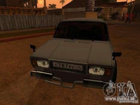 VAZ 2107 coupé pour GTA San Andreas vue de droite