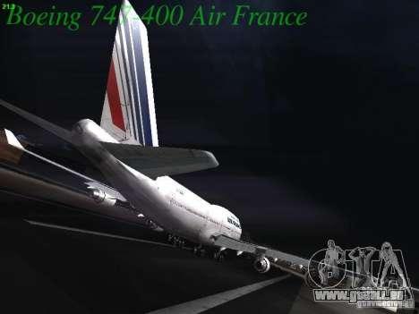 Boeing 747-400 Air France pour GTA San Andreas vue arrière