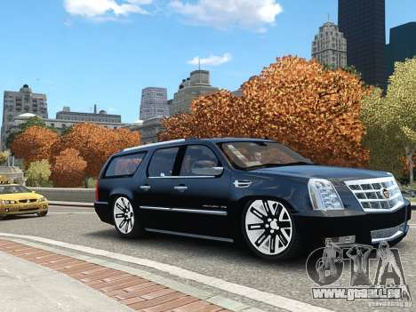 Cadillac Escalade ESV 2012 DUB für GTA 4 hinten links Ansicht