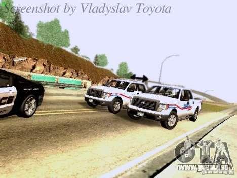 Ford F-150 Road Sheriff pour GTA San Andreas vue de côté