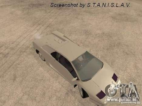 Lamborghini Diablo pour GTA San Andreas vue arrière