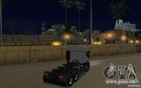 Iveco Stralis Double Trailers pour GTA San Andreas vue de droite