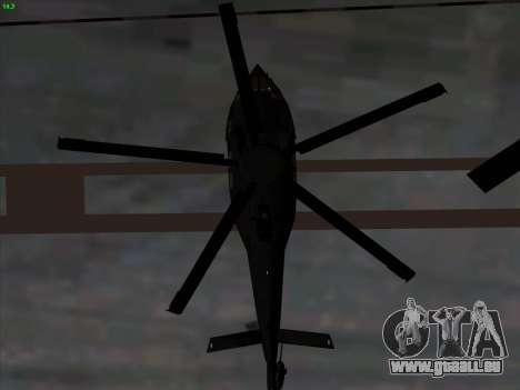 MH-X Stealthhawk für GTA San Andreas Innenansicht