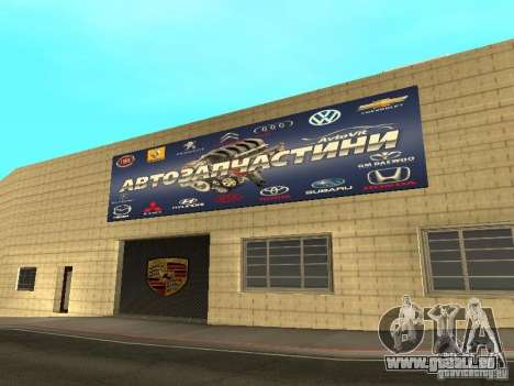 Salon de l'automobile Porsche pour GTA San Andreas septième écran