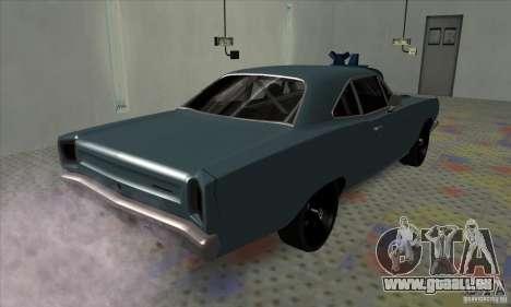 Plymouth Roadrunner pour GTA San Andreas sur la vue arrière gauche