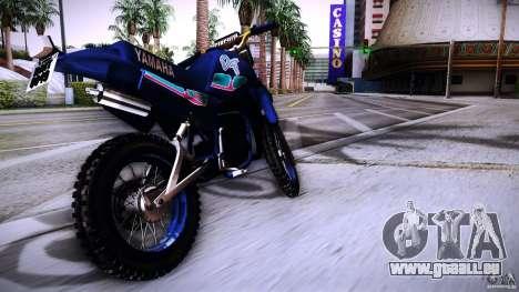 Yamaha DT 180 pour GTA San Andreas sur la vue arrière gauche