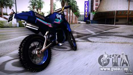 Yamaha DT 180 für GTA San Andreas zurück linke Ansicht