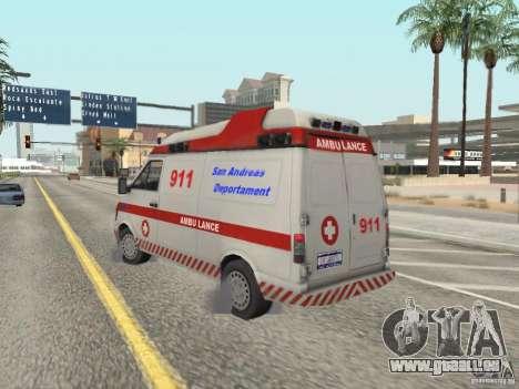 Ford Transit Ambulance pour GTA San Andreas sur la vue arrière gauche