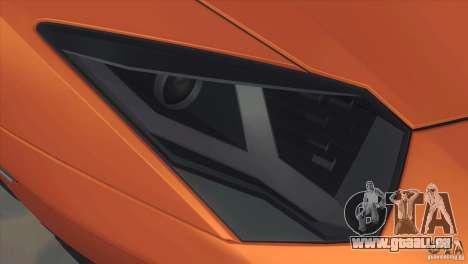Lamborghini Aventador LP 700-4 pour GTA San Andreas vue intérieure