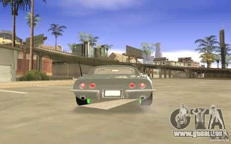 Chevrolet Corvette Stingray Monster Energy pour GTA San Andreas vue de dessus