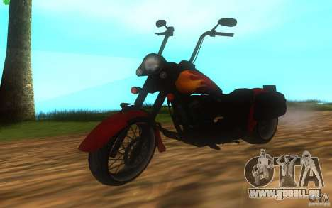 Motorcycle from Mercenaries 2 für GTA San Andreas zurück linke Ansicht