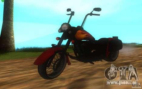Motorcycle from Mercenaries 2 pour GTA San Andreas sur la vue arrière gauche