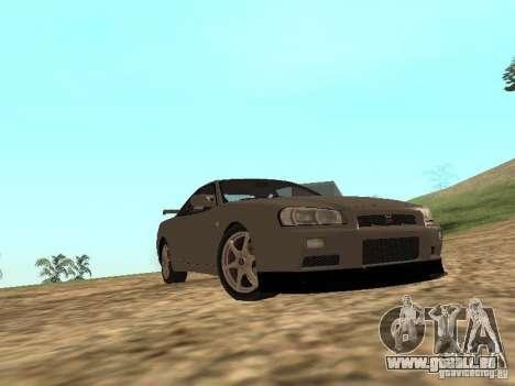 Nissan Skyline GTR R34 für GTA San Andreas Innenansicht