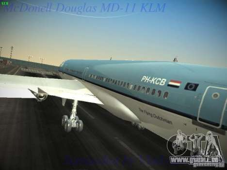 McDonnell Douglas MD-11 KLM Royal Dutch Airlines für GTA San Andreas Innenansicht