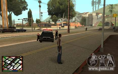 GTA V Interface für GTA San Andreas zweiten Screenshot