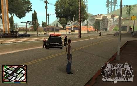 GTA V Interface pour GTA San Andreas deuxième écran