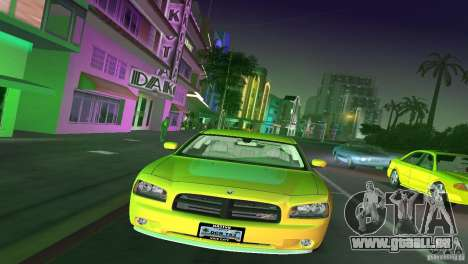 Dodge Charger RT für GTA Vice City zurück linke Ansicht