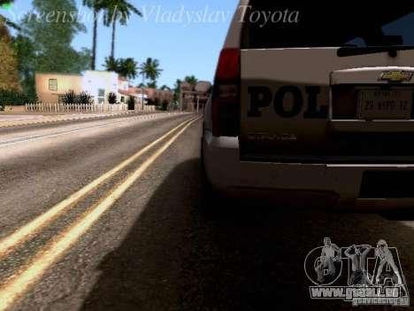 Chevrolet Tahoe 2007 NYPD pour GTA San Andreas vue de côté