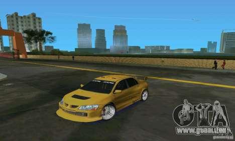 Mitsubishi Lancer Evo für GTA Vice City linke Ansicht