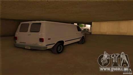 Chevrolet Van G20 pour GTA San Andreas laissé vue