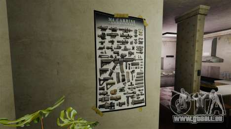 Nouvelles affiches dans le deuxième appartement pour GTA 4 troisième écran