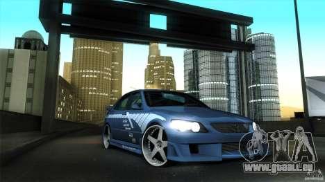 Lexus IS 300 Veilside pour GTA San Andreas vue intérieure