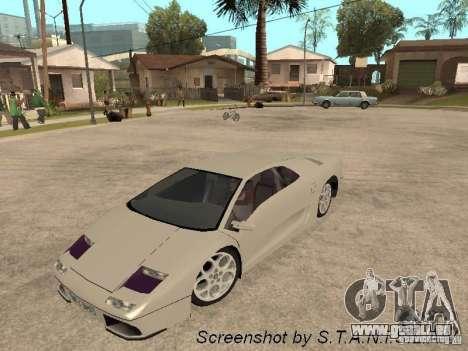 Lamborghini Diablo pour GTA San Andreas vue de droite