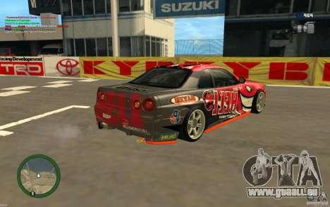 Nissan Skyline R34 Hell Energy für GTA San Andreas linke Ansicht